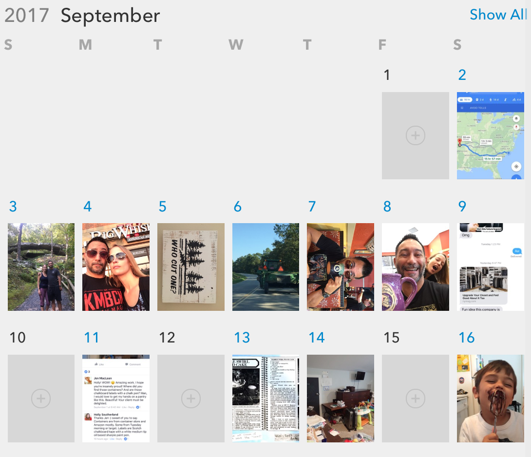 digital photo organizing mylio calendar view professional organizer wilmington nc